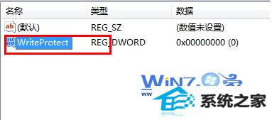将dwoRd值的名称改为writeprotect